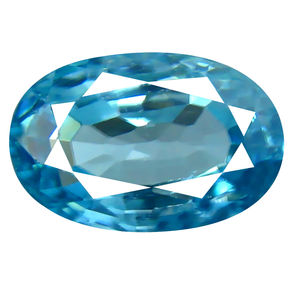 2.63 ct Outstanding Oval Cut (9 x 6 mm) Cambodian Blue Zircon Natural Loose Gemstone