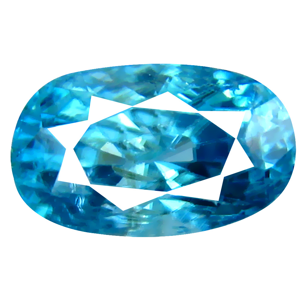 3.45 ct Eye-popping Oval Cut (10 x 6 mm) Cambodian Blue Zircon Natural Loose Gemstone