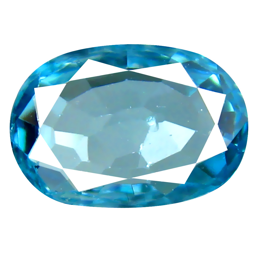 2.43 ct Good-looking Oval Cut (9 x 7 mm) Cambodian Blue Zircon Natural Loose Gemstone