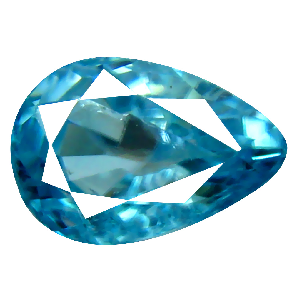 2.15 ct Incredible Pear Cut (9 x 6 mm) Cambodian Blue Zircon Natural Loose Gemstone