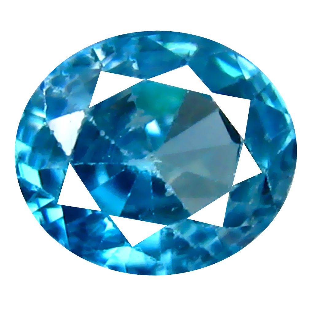 1.20 ct Eye-opening Oval Cut (6 x 5 mm) Cambodian Blue Zircon Natural Loose Gemstone