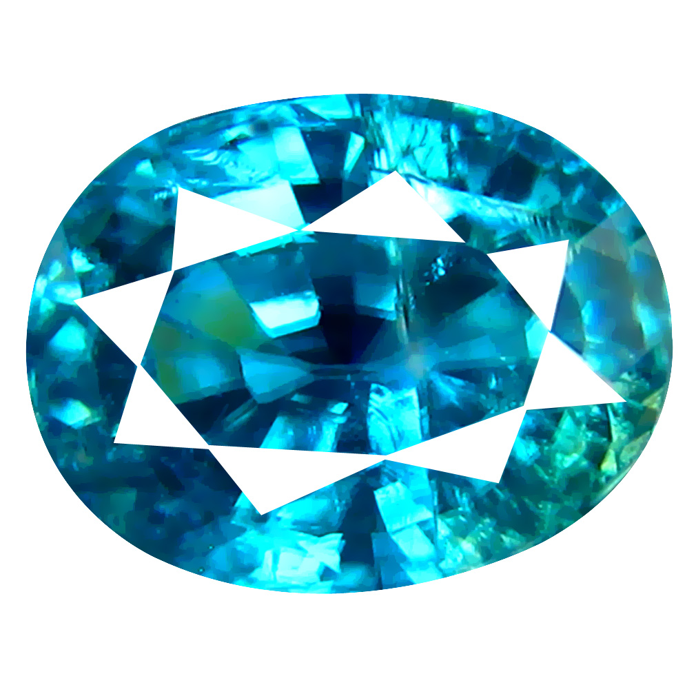 2.53 ct Eye-catching Oval Cut (8 x 6 mm) Cambodian Blue Zircon Natural Loose Gemstone
