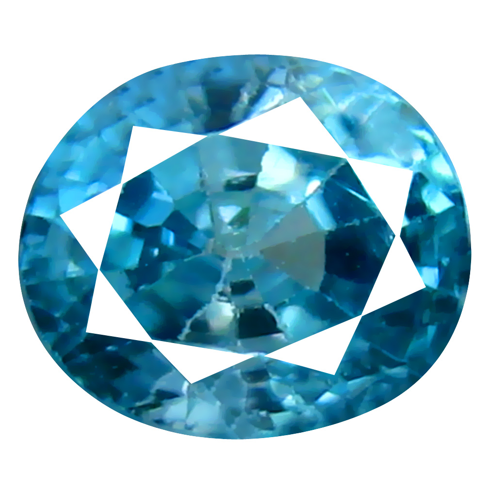 1.42 ct Gorgeous Oval Cut (6 x 5 mm) Cambodian Blue Zircon Natural Loose Gemstone