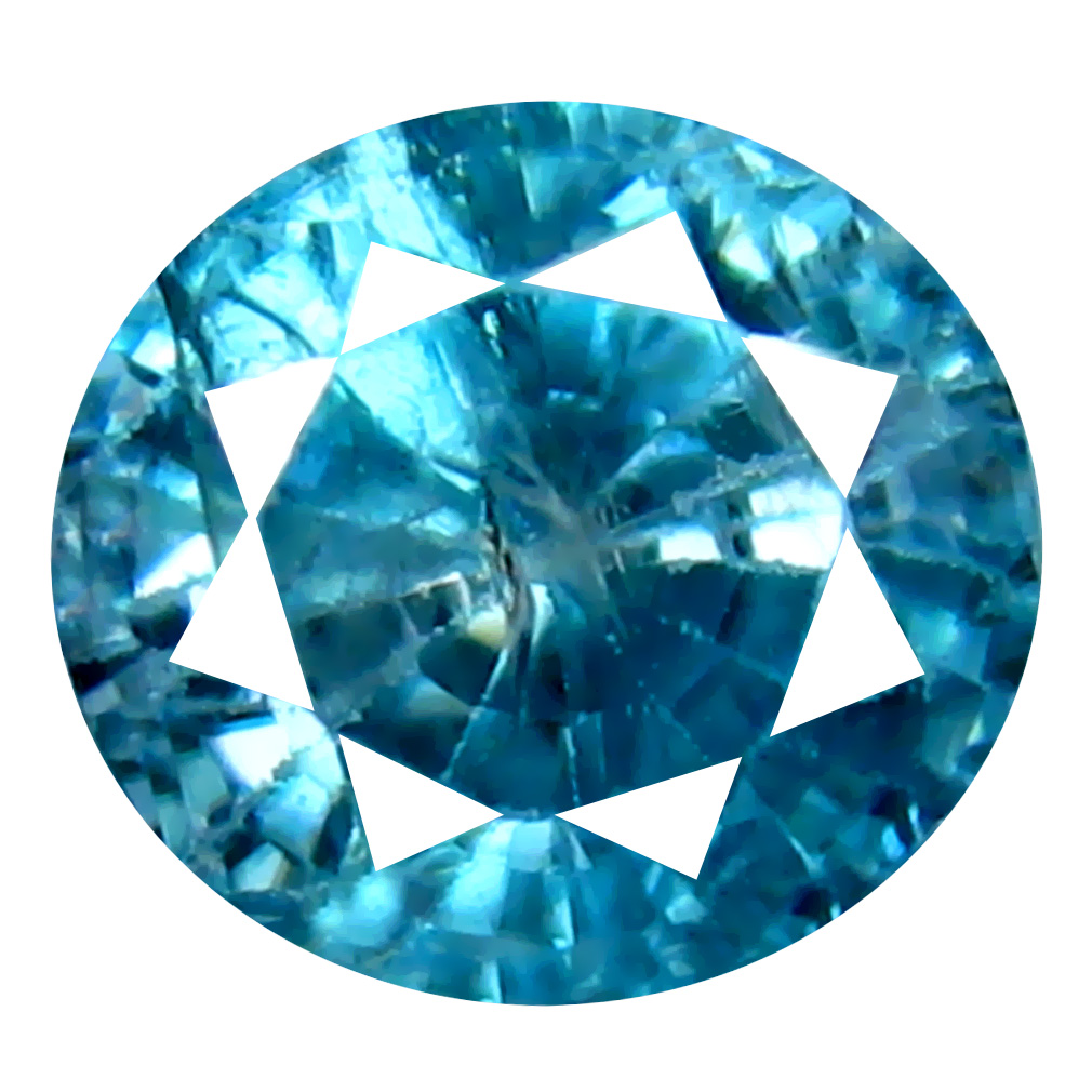 1.83 ct Super-Excellent Oval Cut (7 x 6 mm) Cambodian Blue Zircon Natural Loose Gemstone