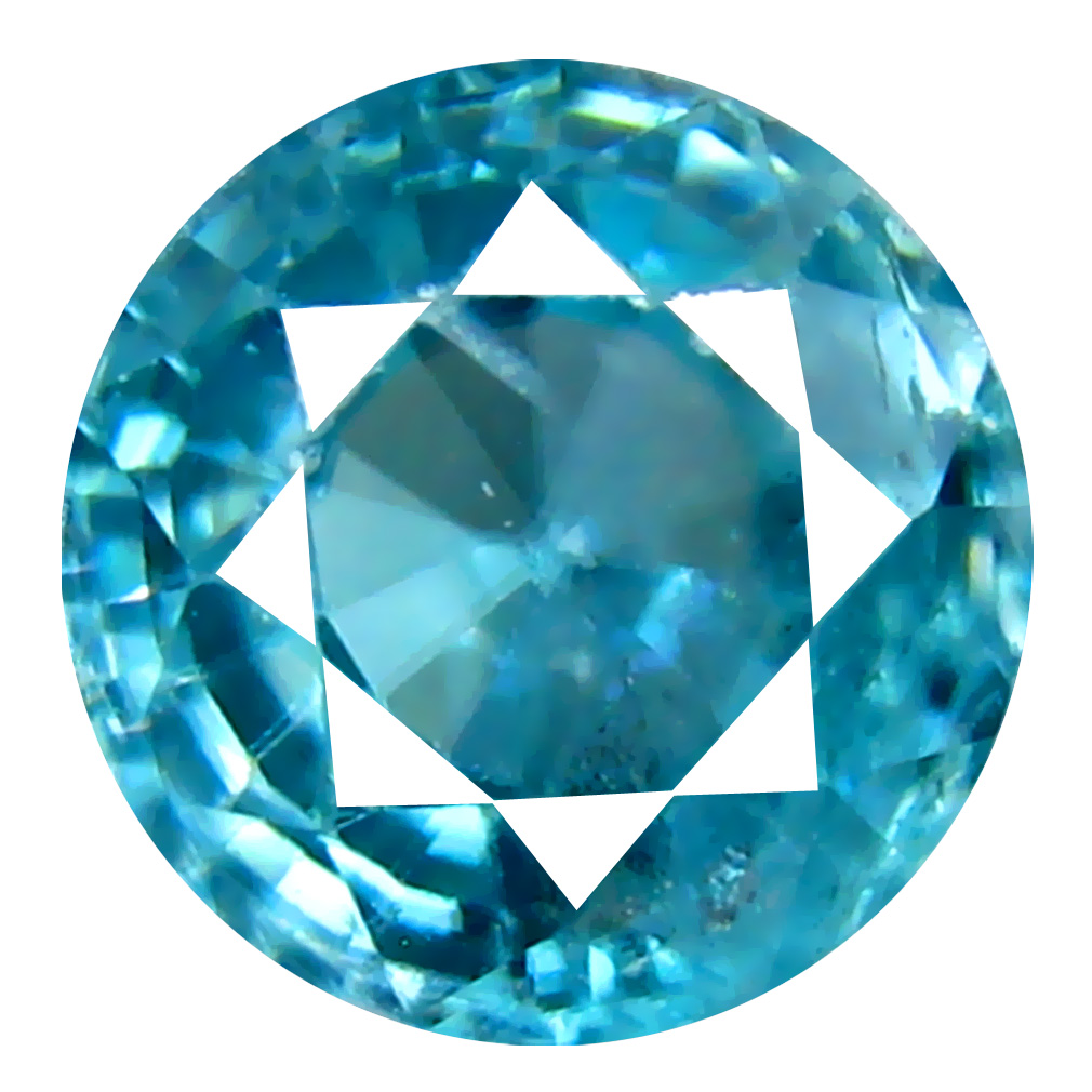 1.55 ct Sparkling Oval Cut (6 x 6 mm) Cambodian Blue Zircon Natural Loose Gemstone