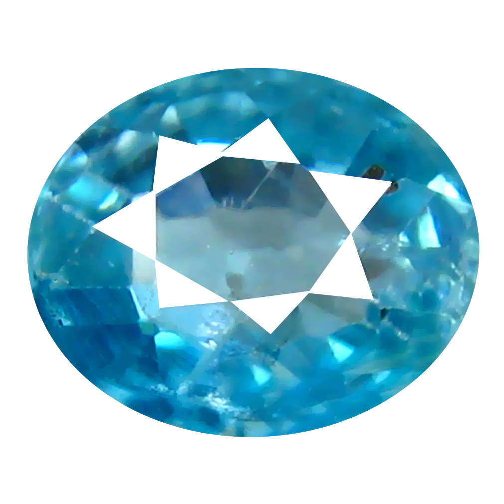1.14 ct Amazing Oval Cut (7 x 5 mm) Cambodian Blue Zircon Natural Loose Gemstone