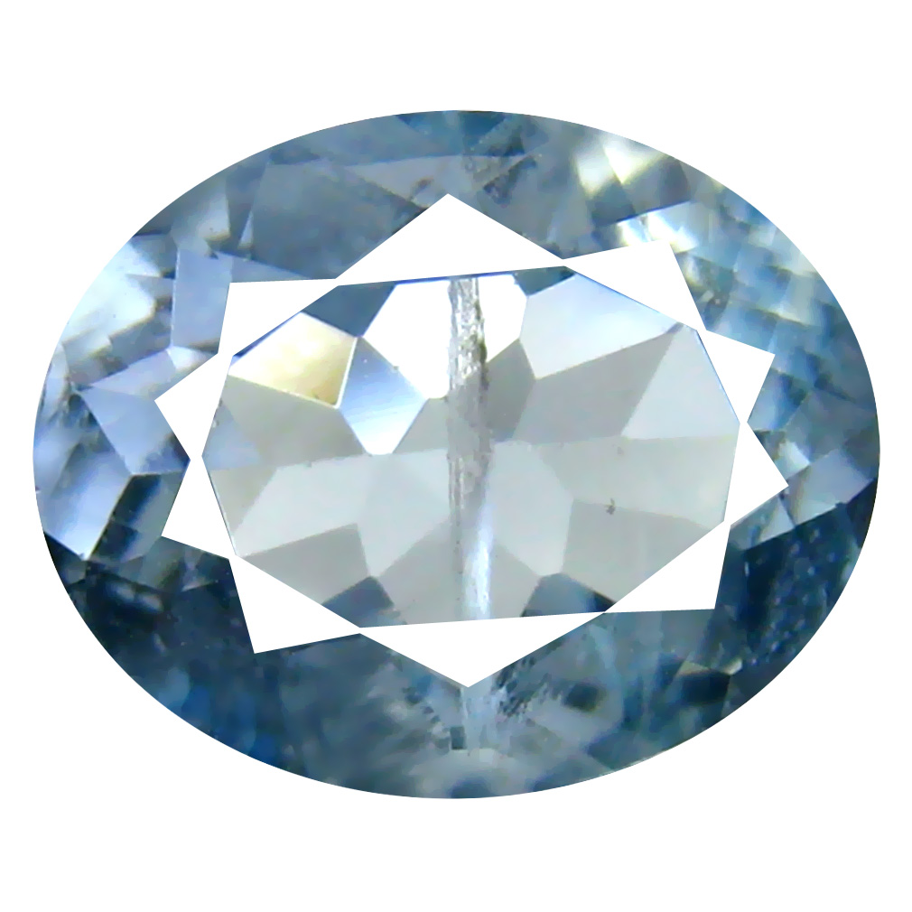 1.95 ct Oval Shape (10 x 8 mm) Brazilian Blue Aquamarine Loose Gemstone