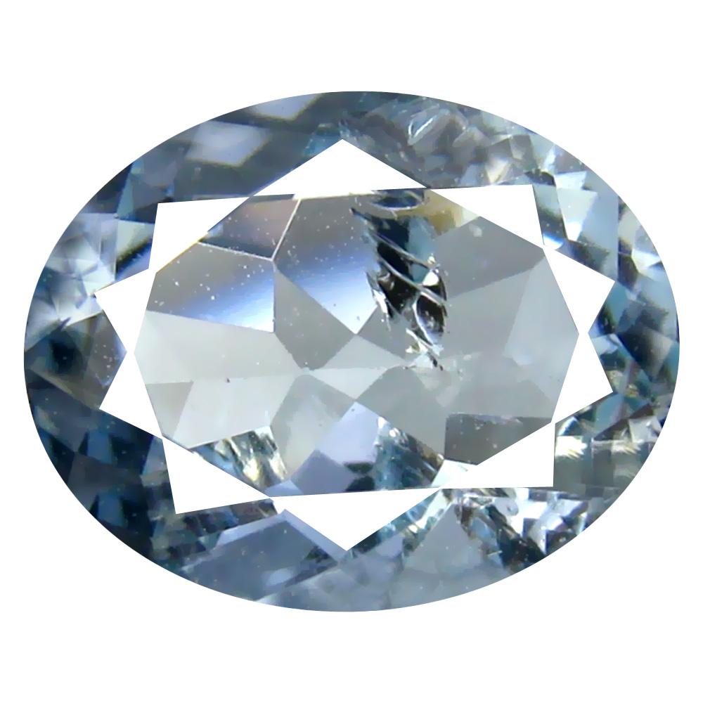 1.97 ct Oval Shape (10 x 8 mm) Brazilian Blue Aquamarine Loose Gemstone