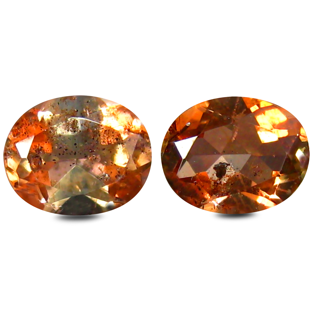 0.78 ct (2pcs) Superior MATCHING PAIR Oval Shape (5 x 4 mm) Andalusite Natural Gemstone