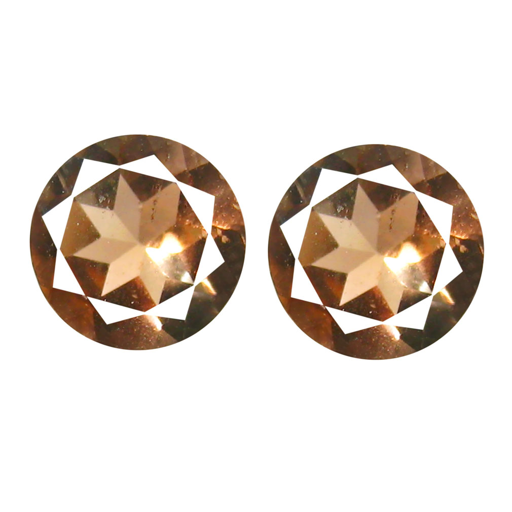1.00 ct (2pcs) Wonderful MATCHING PAIR 5 mm Round cut Un-Heated Andalusite Natural Gemstone