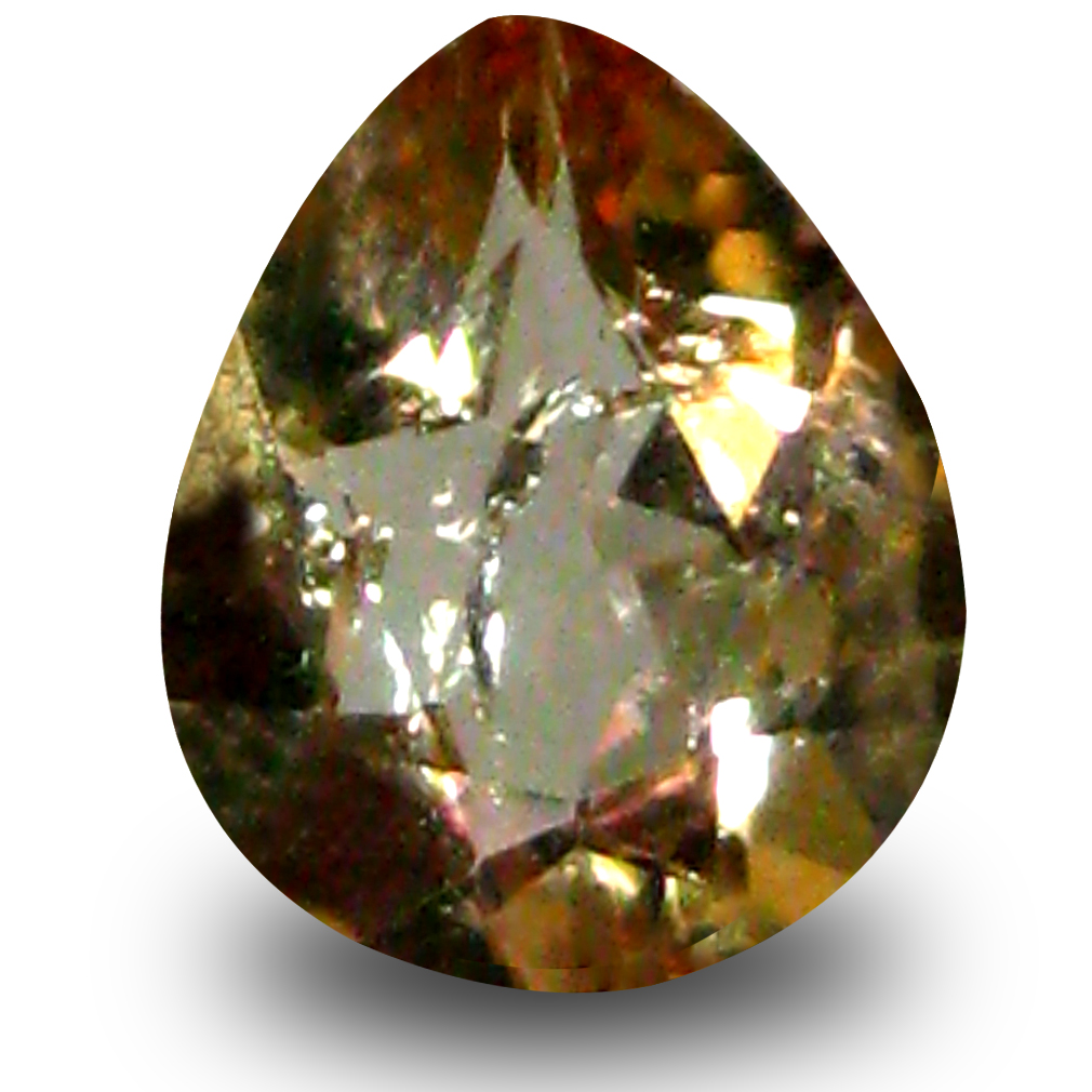 0.50 ct AAA Grade Mind-Boggling Pear Cut (6 x 5 mm) 100% Natural Brownish Yellow Axinite Gemstone