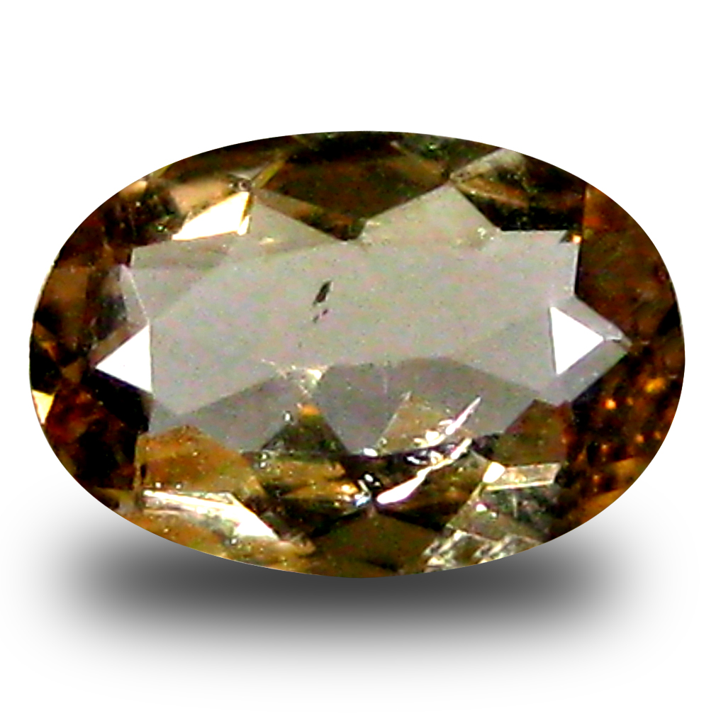 0.68 ct AAA Grade Outstanding Oval Cut (7 x 5 mm) 100% Natural Brownish Yellow Axinite Gemstone