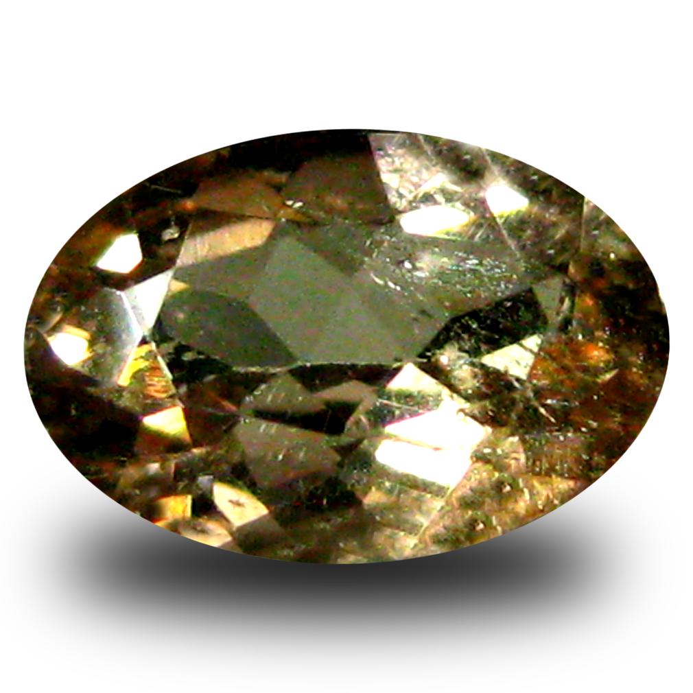 0.54 ct AAA Grade Good-looking Oval Cut (6 x 4 mm) 100% Natural Brownish Yellow Axinite Gemstone