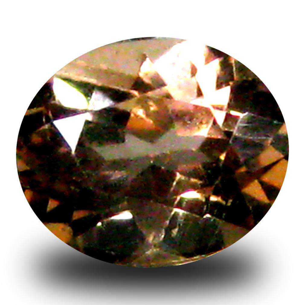 0.64 ct AAA Grade Eye-catching Oval Cut (6 x 5 mm) 100% Natural Brownish Yellow Axinite Gemstone