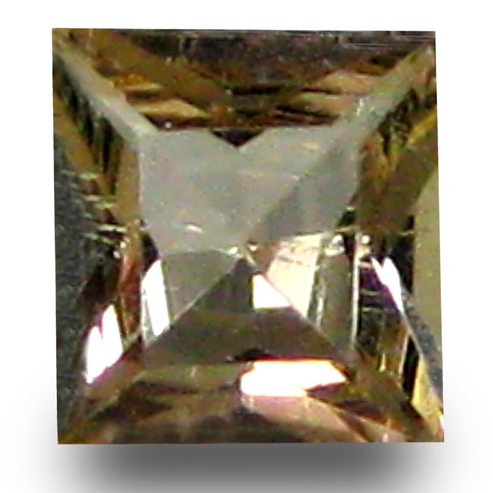 0.29 ct AAA Grade Shimmering Princess Cut (4 x 4 mm) 100% Natural Brownish Yellow Axinite Gemstone