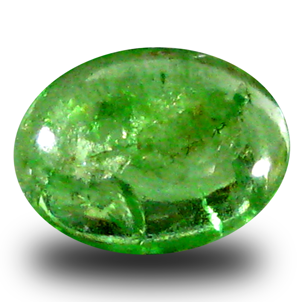cut one garnet of tsavorite oval gemstone picture jaipur en milky gem cts