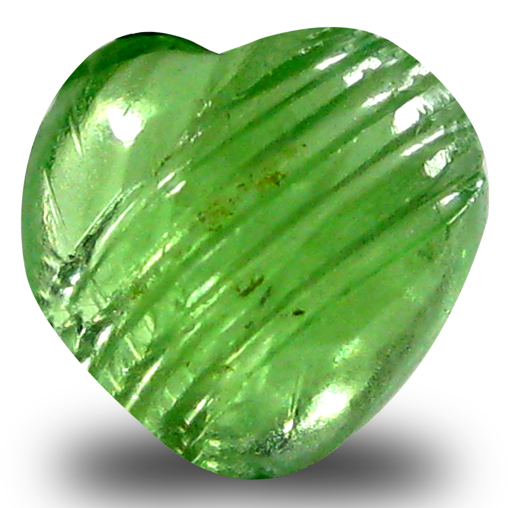 0.93 ct AAA Translucent Amazing Un-Heated Heart Cabochon Cut (6 x 6 mm) Green Tsavorite Garnet