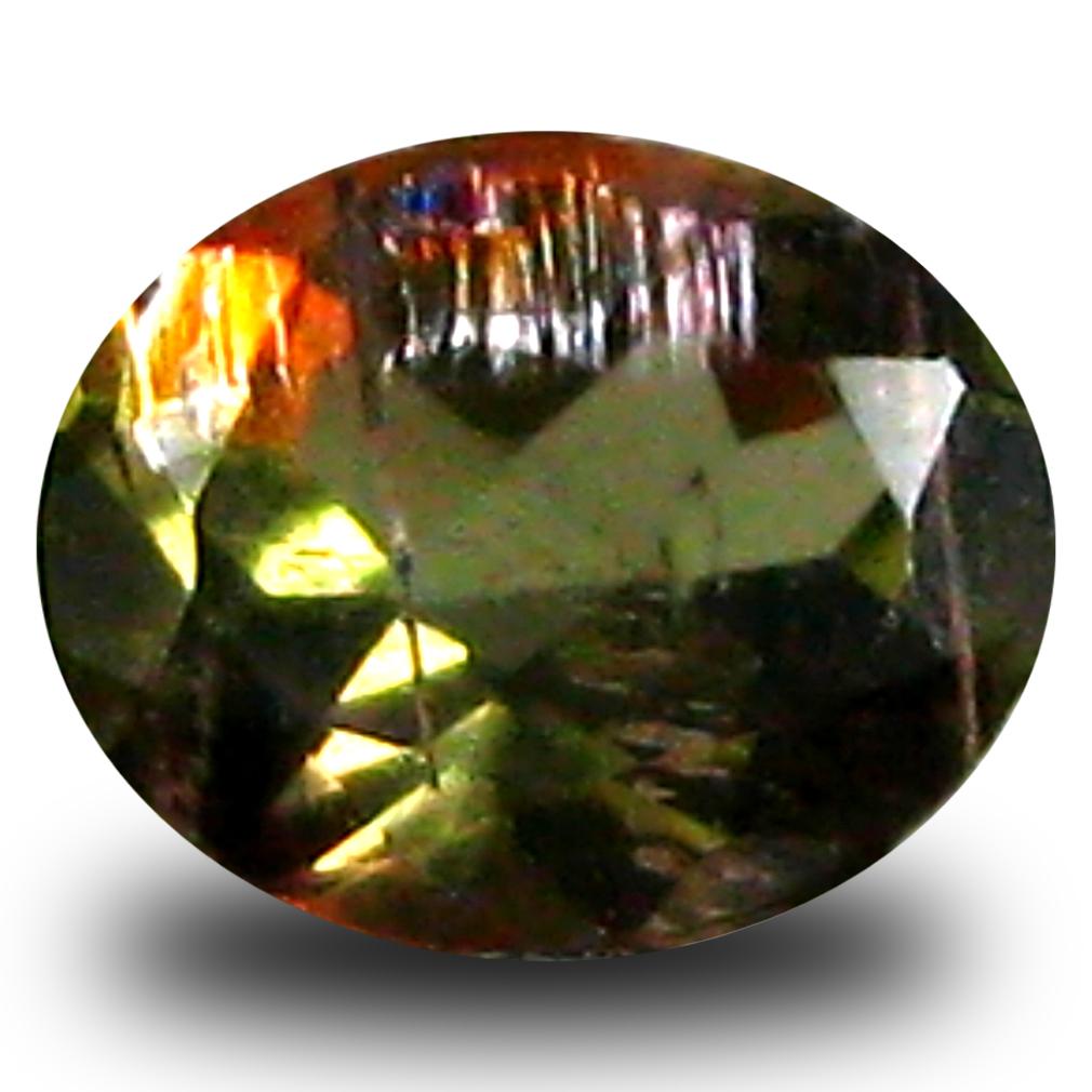 0.40 ct Oval Shape (5 x 4 mm) Brazilian Brownish Orange Andalusite Loose Gemstone