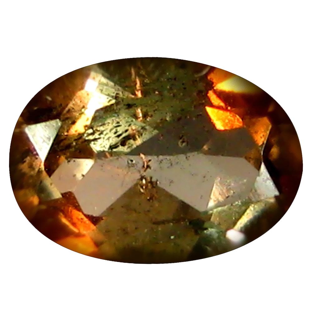 0.52 ct Oval Shape (6 x 4 mm) Brazilian Brownish Orange Andalusite Loose Gemstone