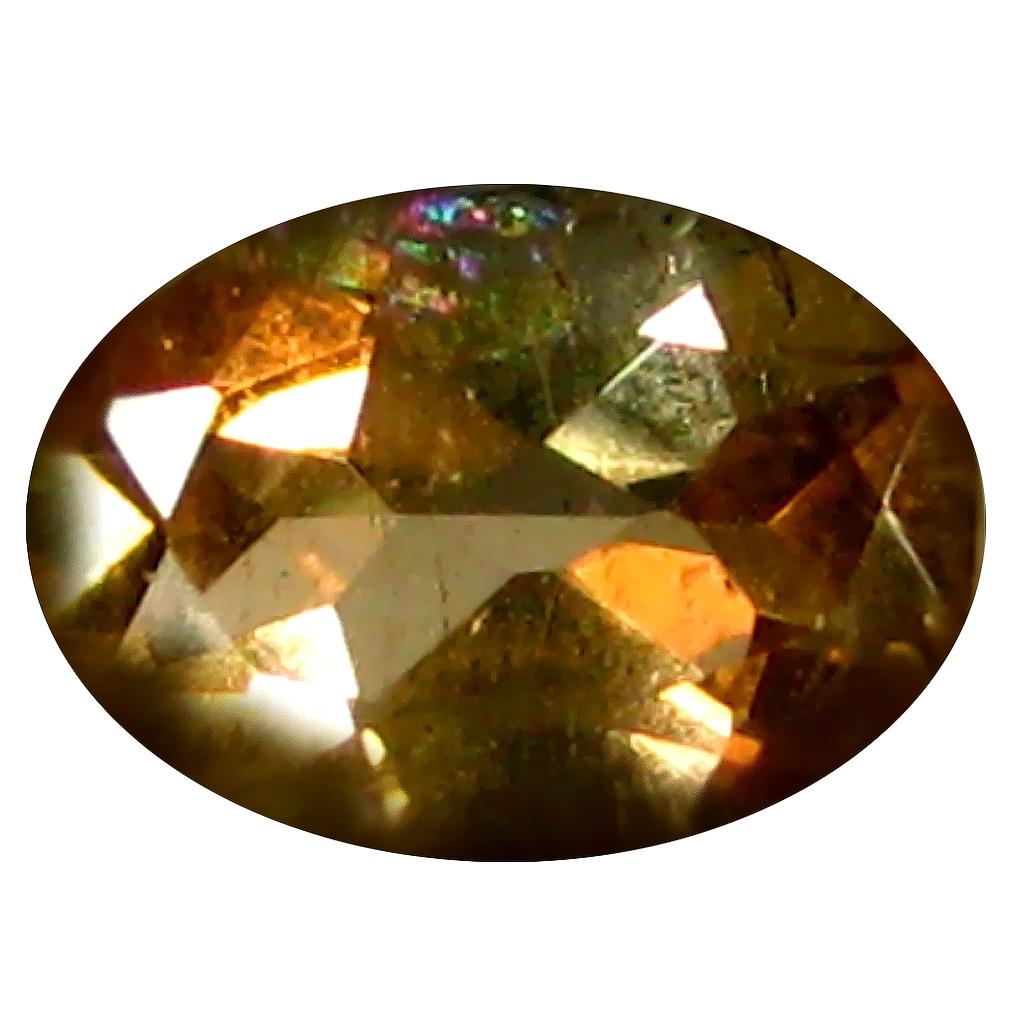 0.48 ct Oval Shape (6 x 4 mm) Brazilian Brownish Orange Andalusite Loose Gemstone