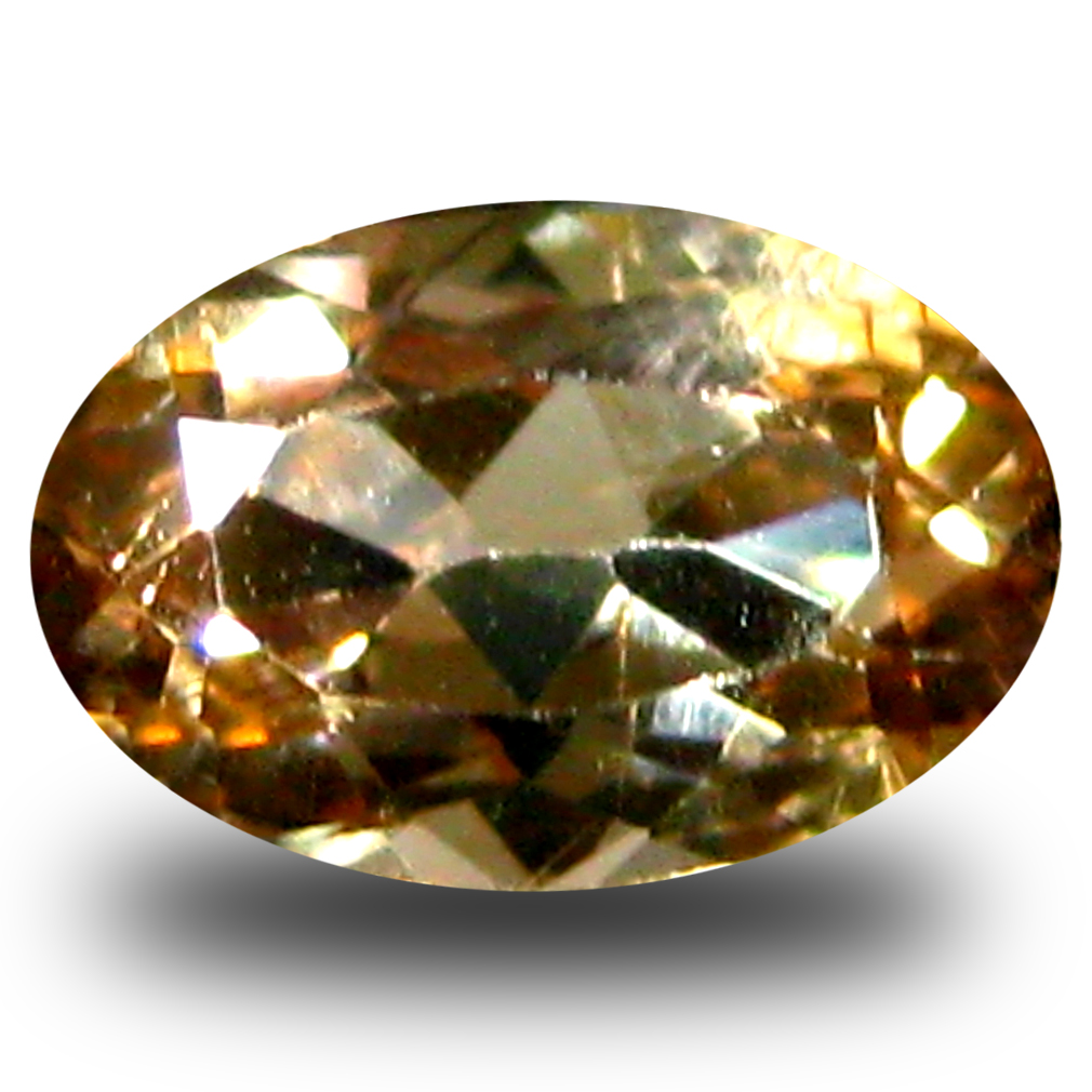 0.73 ct AAA Grade Spectacular Oval Cut (7 x 5 mm) 100% Natural Brownish Yellow Axinite Gemstone