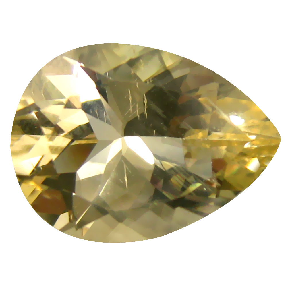 5.15 ct Exquisite Pear Cut (15 x 11 mm) Un-Heated Natural Yellow Andesine Loose Gemstone
