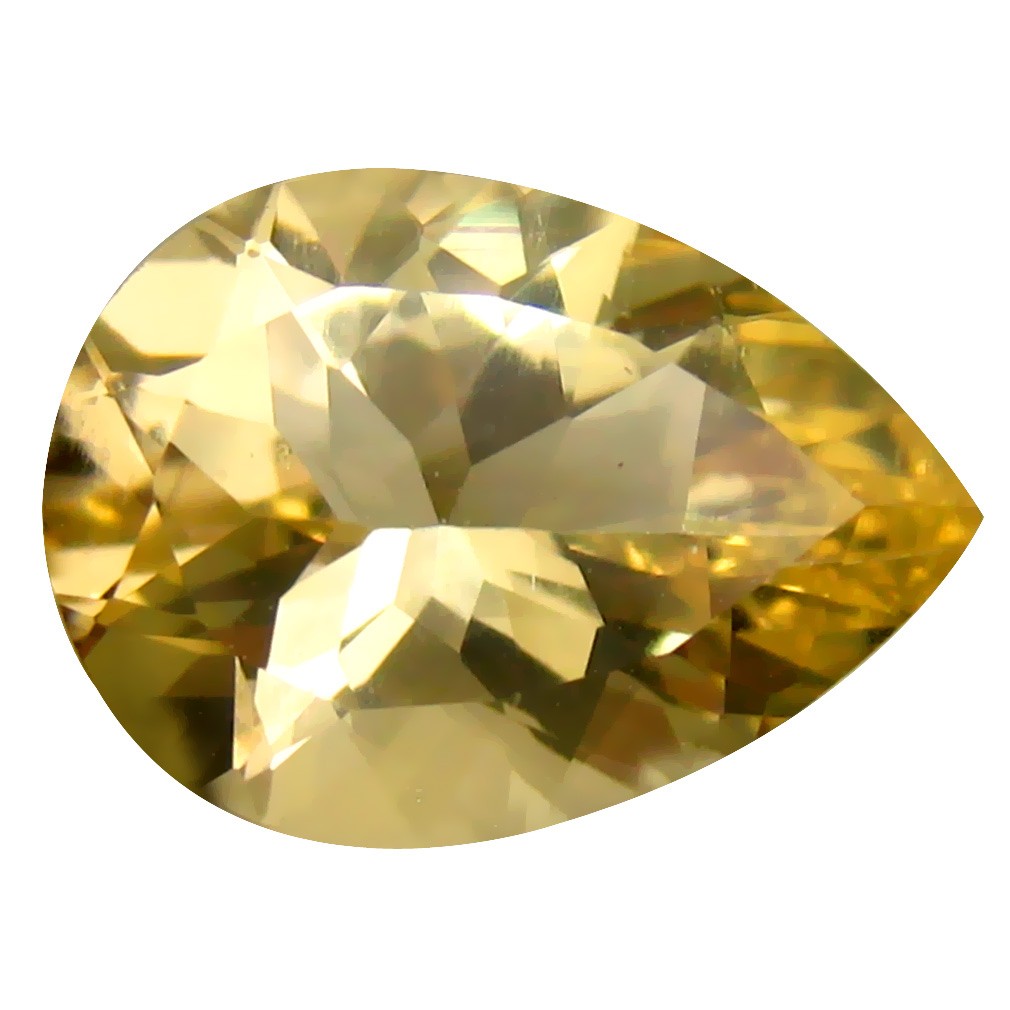 4.56 ct Fabulous Pear Cut (14 x 10 mm) Un-Heated Natural Yellow Andesine Loose Gemstone