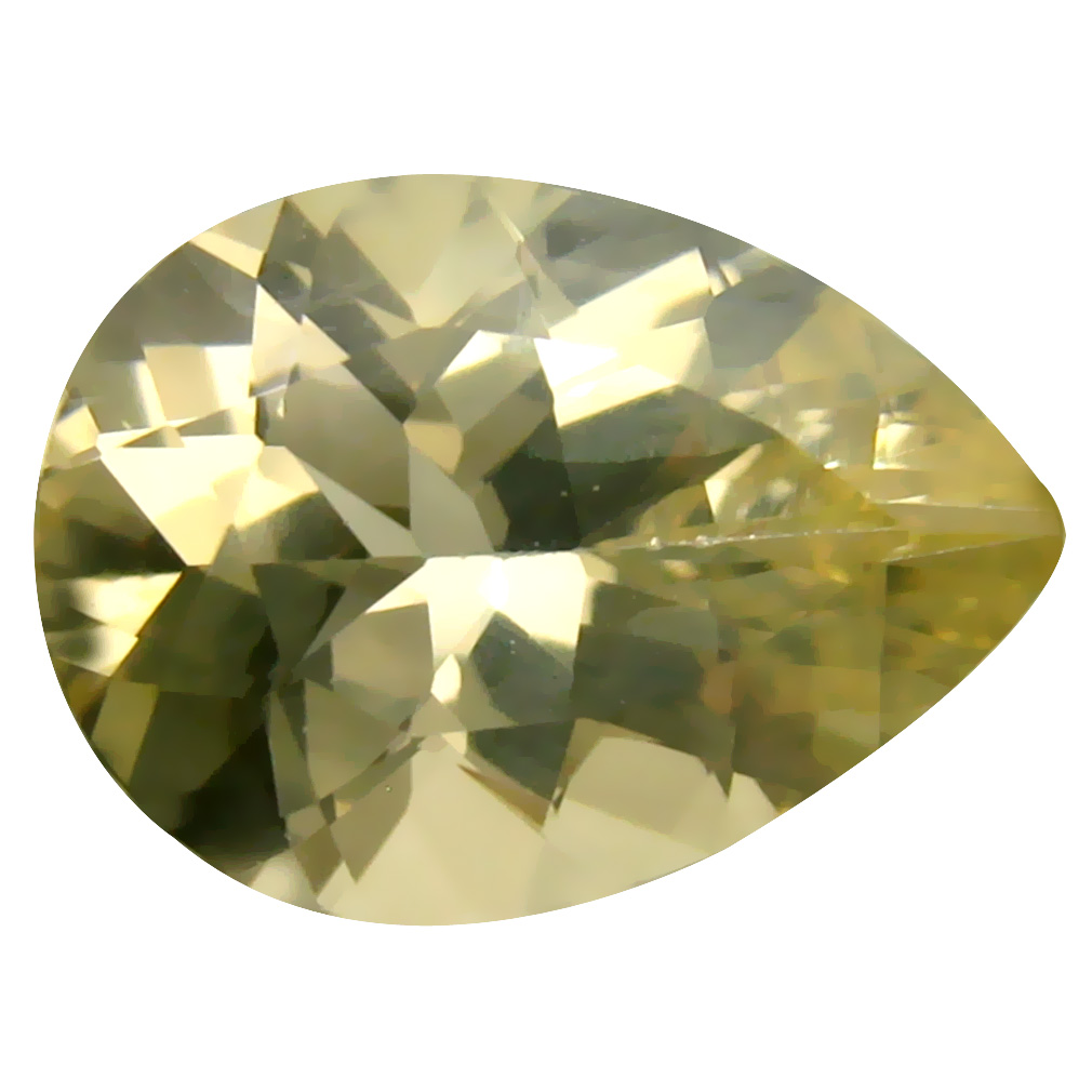 4.54 ct Best Pear Cut (14 x 10 mm) Un-Heated Natural Yellow Andesine Loose Gemstone