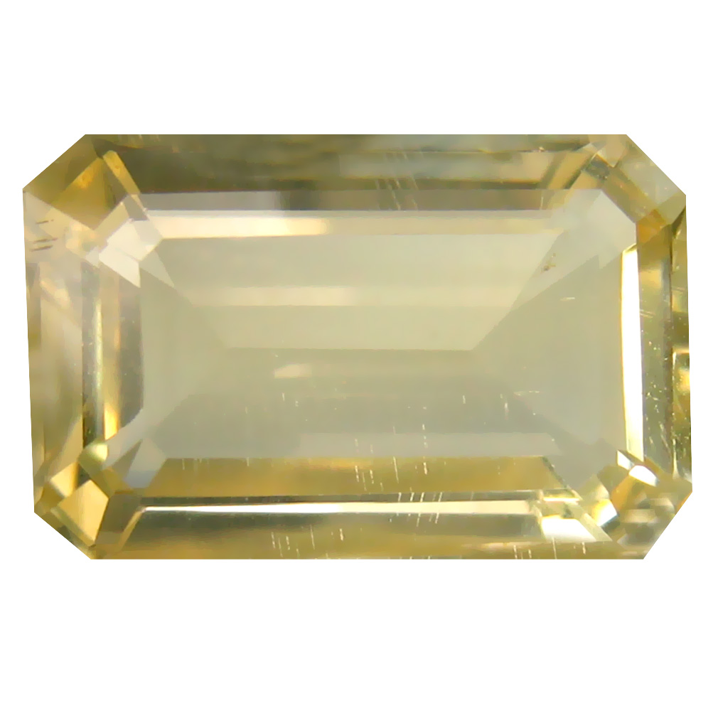 8.31 ct Eye-catching Octagon Cut (16 x 10 mm) Un-Heated Natural Yellow Andesine Loose Gemstone