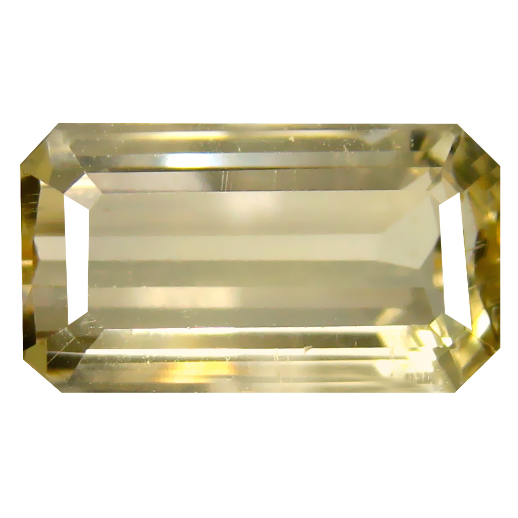 7.22 ct Super-Excellent Octagon Cut (16 x 9 mm) Un-Heated Natural Yellow Andesine Loose Gemstone