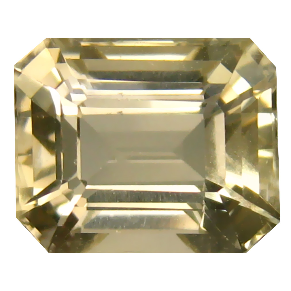 4.81 ct Shimmering Octagon Cut (11 x 9 mm) Un-Heated Natural Yellow Andesine Loose Gemstone