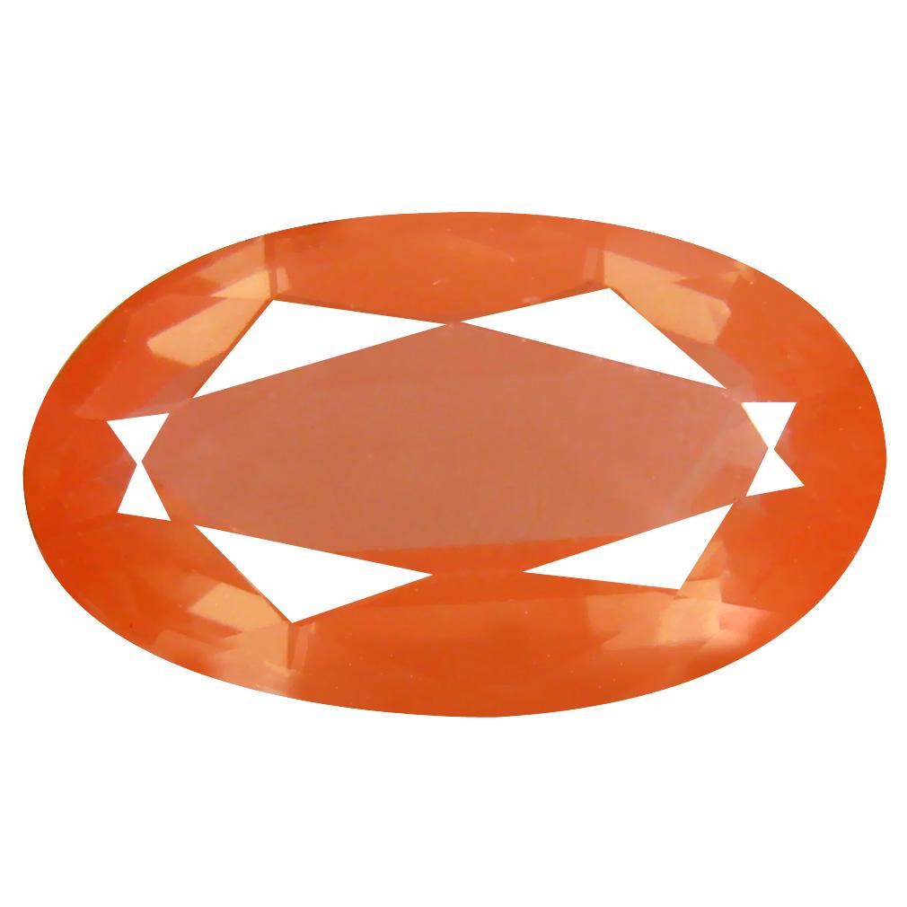 8.64 ct Amazing Oval Cut (18 x 10 mm) Orange Red Color Natural Labradorite Natural Gemstone