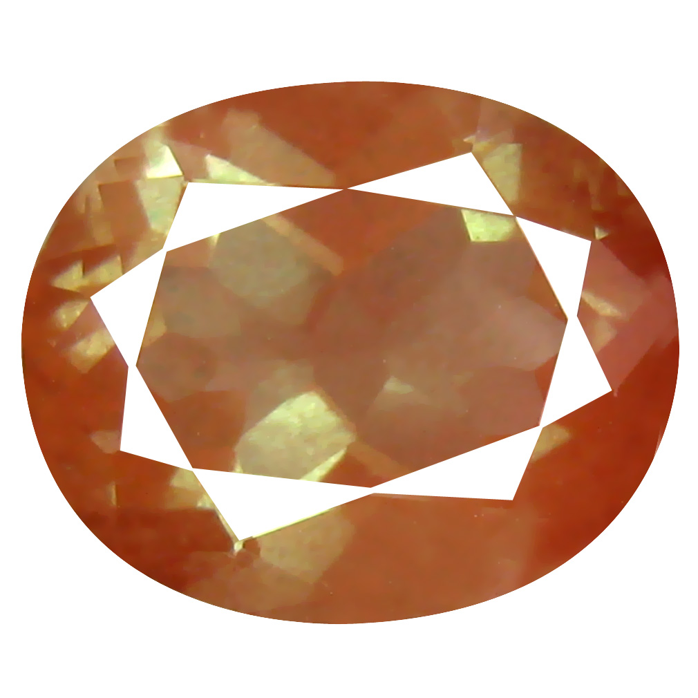 4.35 ct Magnificent fire Oval Cut (12 x 10 mm) Orange Red Color Natural Labradorite Natural Gemstone