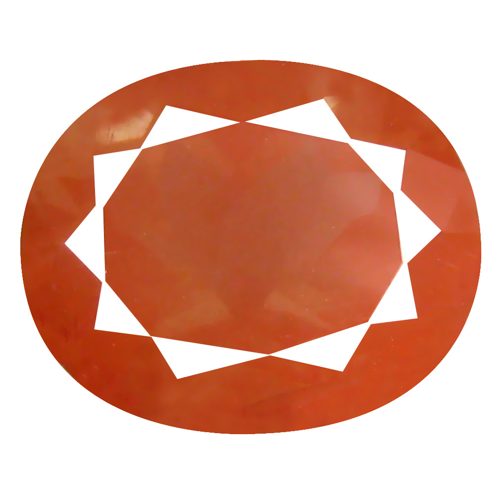 3.63 ct Mesmerizing Oval Cut (11 x 9 mm) Orange Red Color Natural Labradorite Natural Gemstone