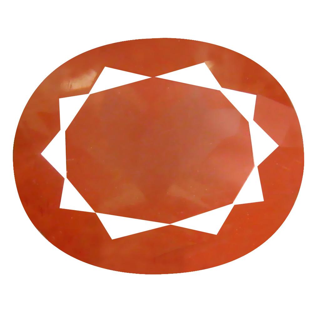 3.63 ct Mesmerizing Oval Cut (11 x 9 mm) Orange Red Color Natural Labradorite Natural Gemstone