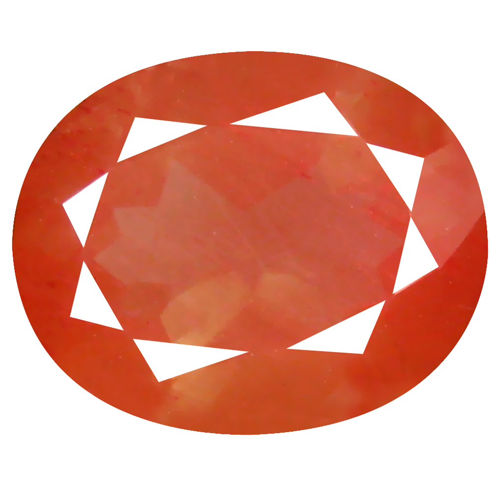 3.27 ct Spectacular Oval Cut (11 x 9 mm) Orange Red Color Natural Labradorite Natural Gemstone