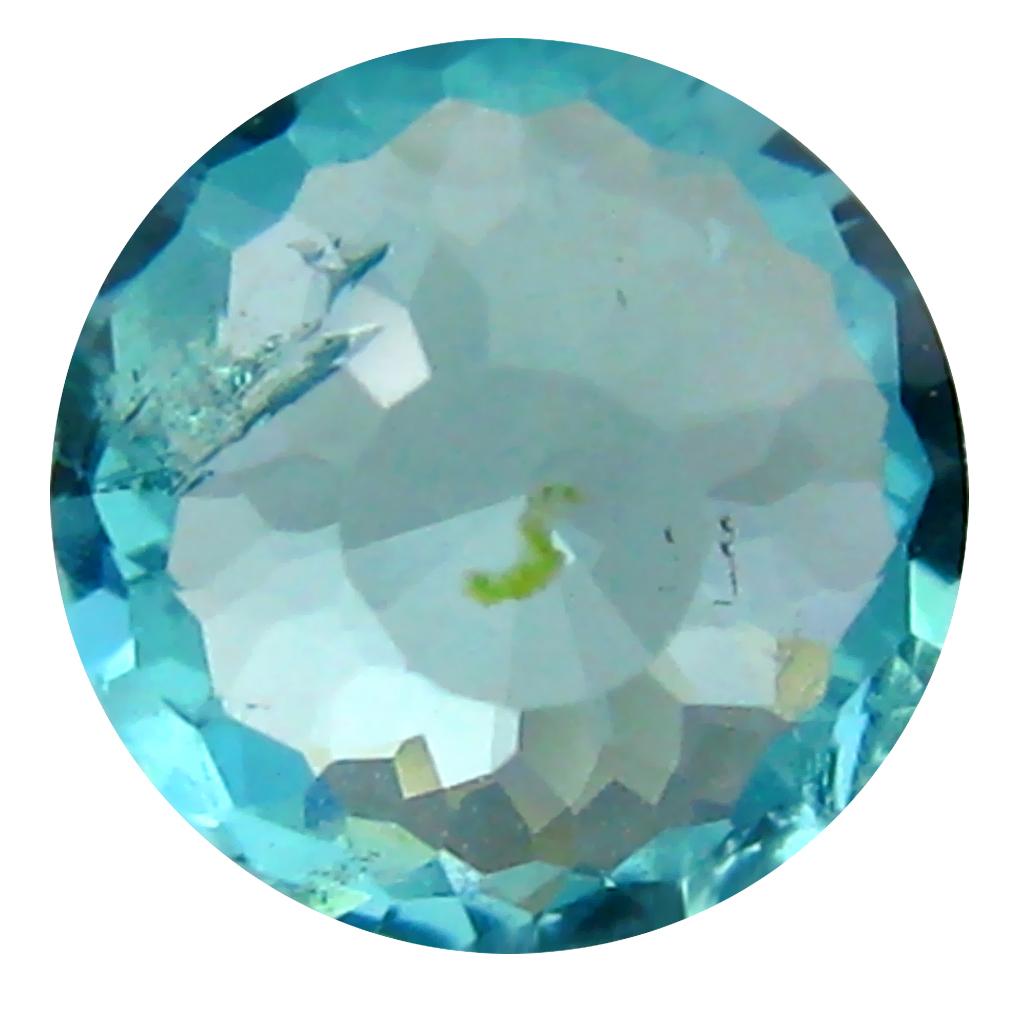 0.70 ct AAA+ Impressive Round Shape (6 x 6 mm) Paraiba Blue Apatite Natural Gemstone