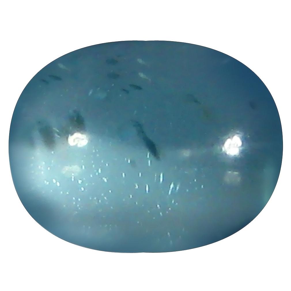 1.32 ct Oval Cabochon Shape (8 x 5 mm) Brazilian Paraiba Blue Apatite Loose Gemstone