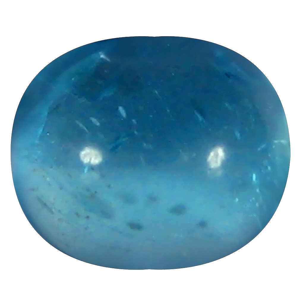 1.21 ct Oval Cabochon Shape (7 x 6 mm) Brazilian Paraiba Blue Apatite Loose Gemstone