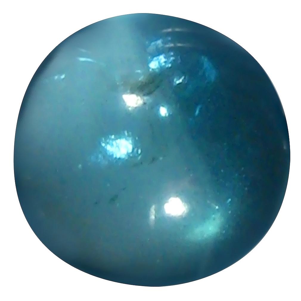 1.27 ct Oval Cabochon Shape (7 x 7 mm) Brazilian Paraiba Blue Apatite Loose Gemstone