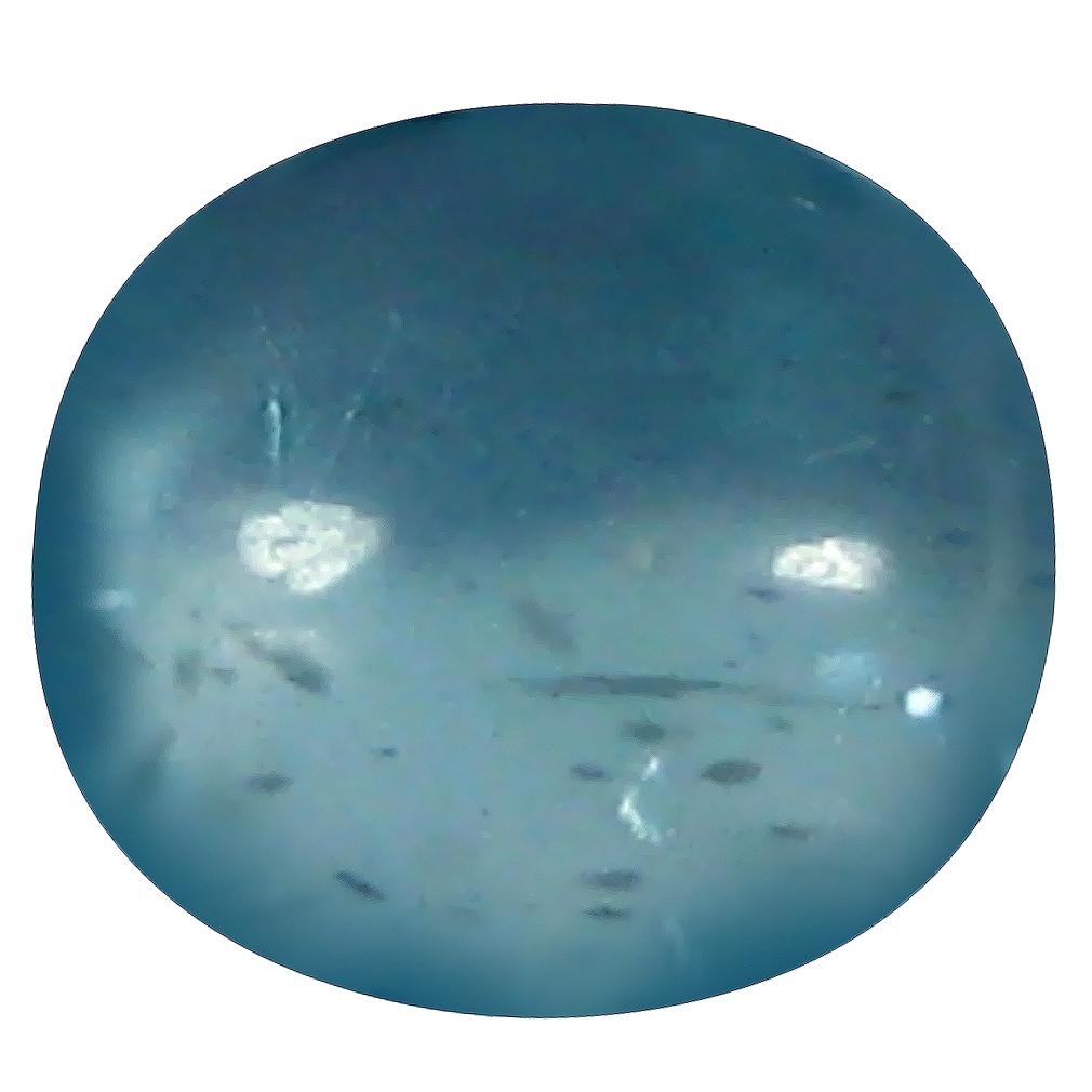 1.00 ct Oval Cabochon Shape (7 x 6 mm) Brazilian Paraiba Blue Apatite Loose Gemstone