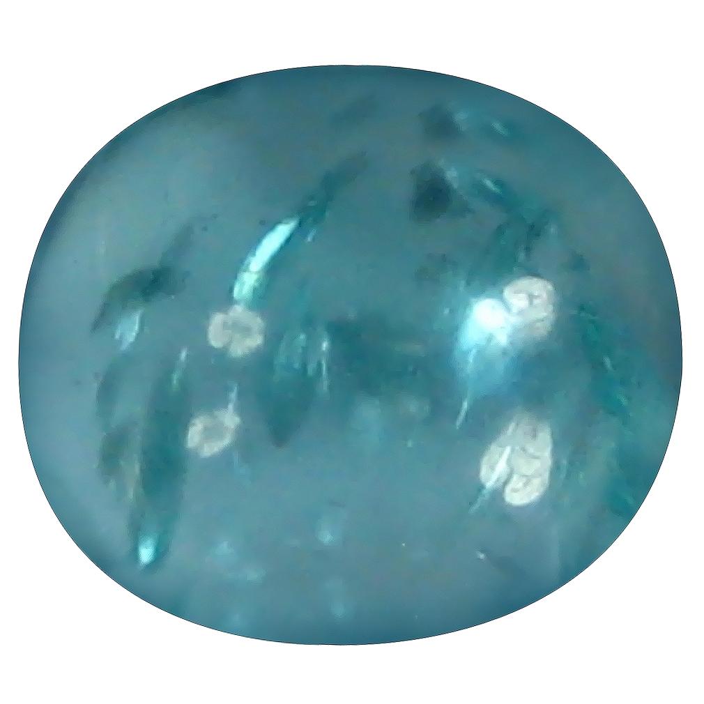 1.15 ct Oval Cabochon Shape (6 x 5 mm) Brazilian Paraiba Blue Apatite Loose Gemstone
