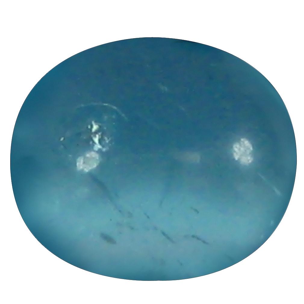 0.93 ct Oval Cabochon Shape (6 x 5 mm) Brazilian Paraiba Blue Apatite Loose Gemstone