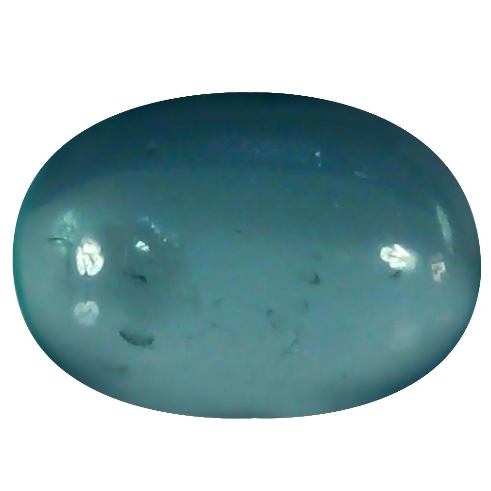 1.59 ct Oval Cabochon Shape (9 x 6 mm) Brazilian Paraiba Blue Apatite Loose Gemstone