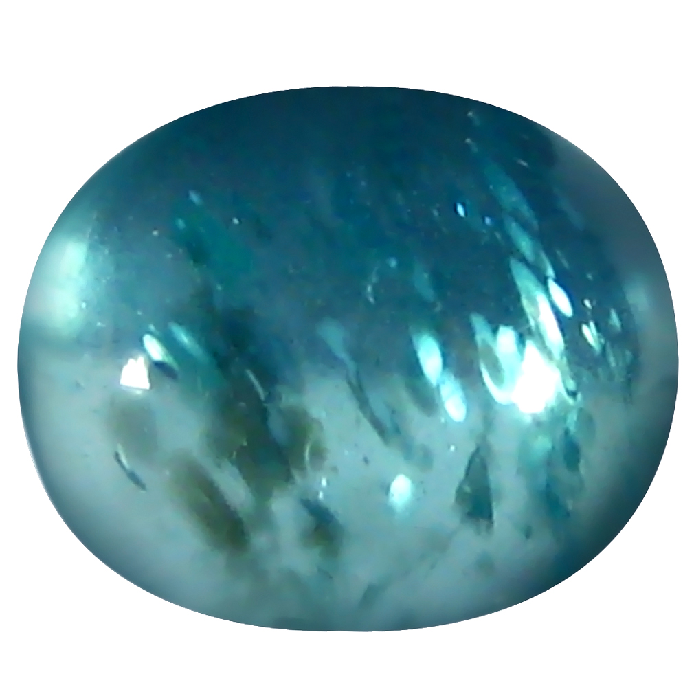 1.18 ct Oval Cabochon Shape (7 x 6 mm) Brazilian Paraiba Blue Apatite Loose Gemstone