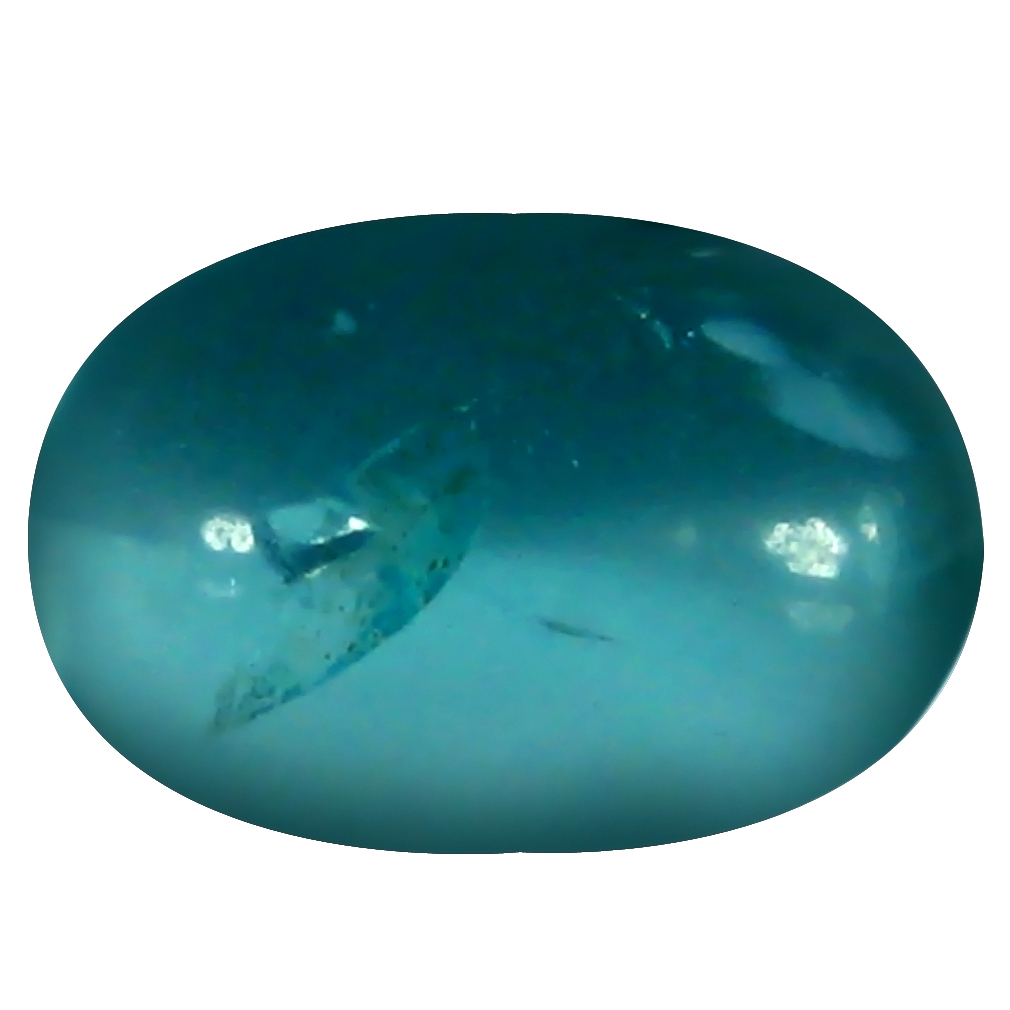 1.21 ct Oval Cabochon Shape (8 x 5 mm) Brazilian Paraiba Blue Apatite Loose Gemstone