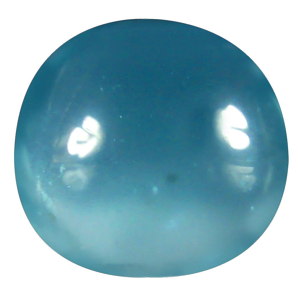 0.83 ct Round Cabochon Shape (6 x 6 mm) Brazilian Paraiba Blue Apatite Loose Gemstone