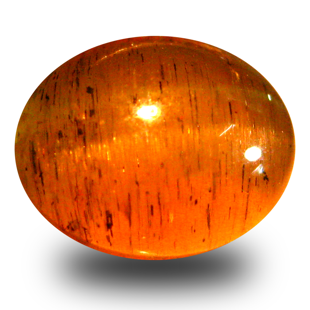 4.30 ct AAA Mind-Boggling Oval Cabochon Shape (10 x 8 mm) Honey Brown Green Apatite Cat's Eye Natural Gemstone
