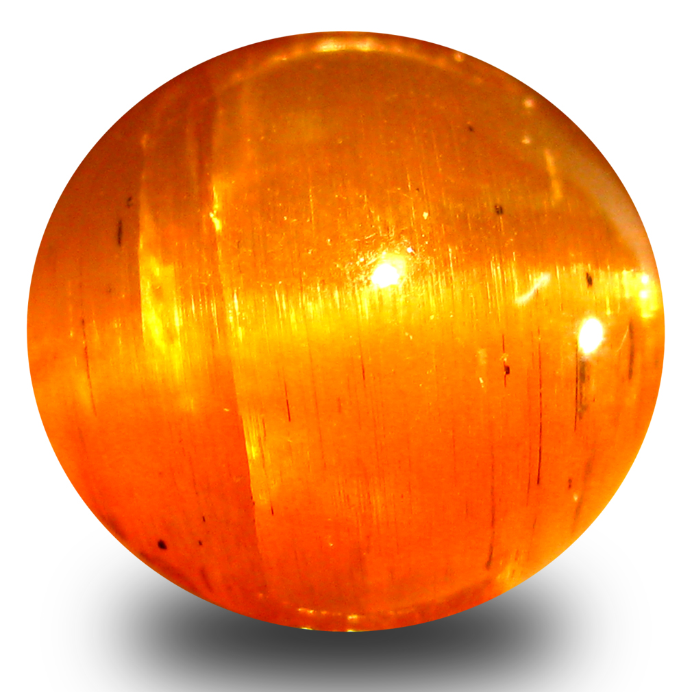 5.09 ct AAA Stunning Oval Cabochon Shape (10 x 9 mm) Honey Brown Green Apatite Cat's Eye Natural Gemstone