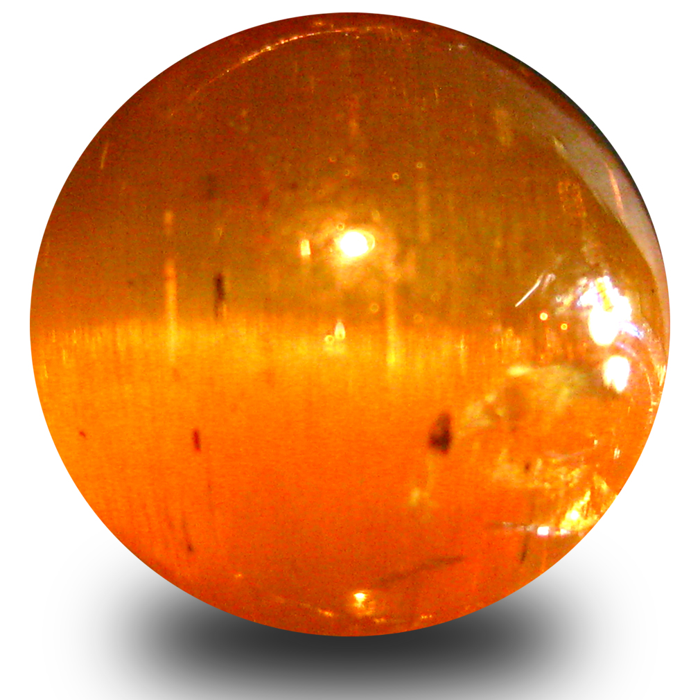 3.70 ct AAA Sparkling Oval Cabochon Shape (9 x 9 mm) Honey Brown Green Apatite Cat's Eye Natural Gemstone